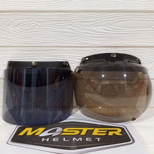 Foto Produk KACA HELM BOGO MURAH FLAT DAN CEMBUNG KACA BOGO MURAH - CEMBUNG SMOKE dari Master Helmet