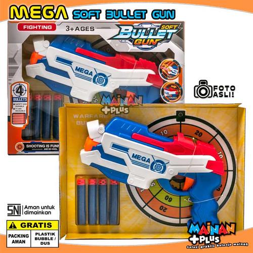 Foto Produk MAINAN ANAK LAKI LAKI PISTOL BUSA MEGA SOFT BULLET GUN NERF OEM - SNI - Putih dari MainanPlus