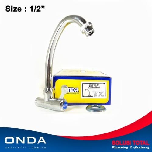 """Foto Produk Kran air ONDA V 637 T keran angsa cuci piring 1/2"""" dapur dari Solusi total"""