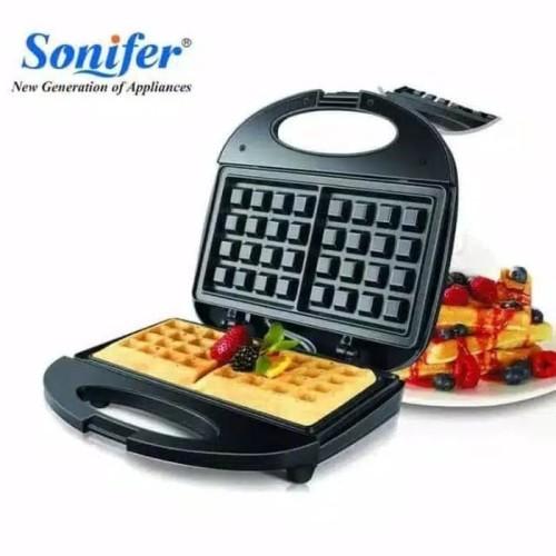 Foto Produk Sonifer Waffle Maker SF6043 Alat Pembuat Wafel Cetakan Nonstick dari Henbao Berjaya