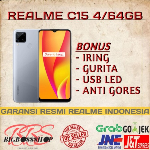 Foto Produk REALME C15 4/64GB NEW GARANSI RESMI - Biru dari Bigbossshop