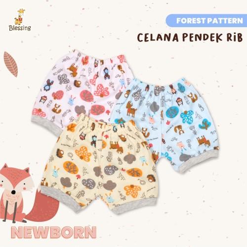 Foto Produk Blessing Babywears-celana pendek rib bayi-0-12 bulan-f-adw - Newborn dari BLESSING Babywear