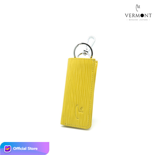 Foto Produk VERMONT V83 - G006 Genuine Leather Car Key Holder Original - Yellow Stripe dari VERMONT LEATHER