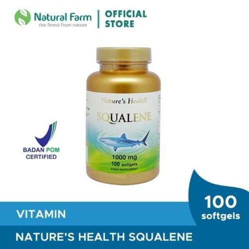 Foto Produk Nature'S Health Squalene 1000 Mg 100 Softgels dari Natural Farm