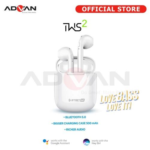 Foto Produk Advan Start Go TWS 2 Earbuds Earphone dari Advan Official Store