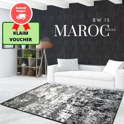 Foto Produk MAROC Karpet Lantai 210x300 BW15 Monokrom dari Martha Karpet Indonesia