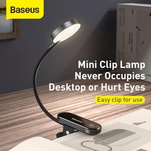 Foto Produk Lampu Baca Baseus Lampu Jepit Belajar Lamp Reading Clip Mini Flexible dari Gadget Factory