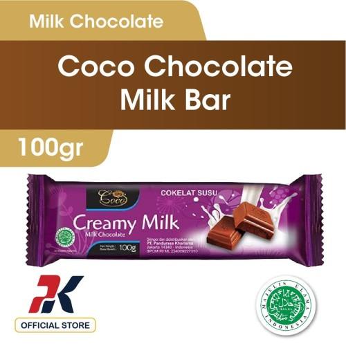 Foto Produk Coco Milk Chocolate Bar 100gr - Coklat Batang dari Pandurasa Official Store