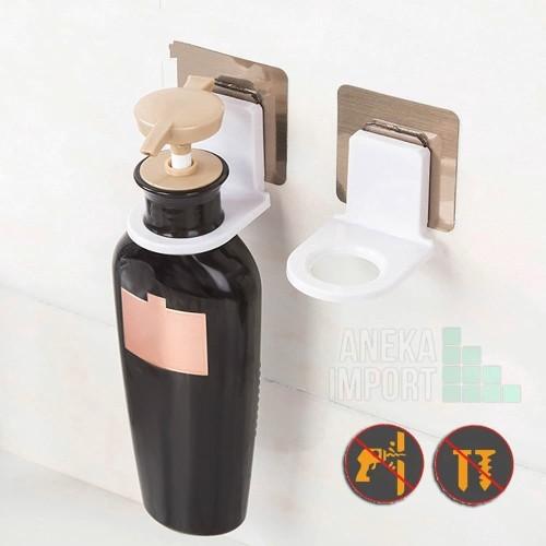 Foto Produk Gantungan Tempel Dinding Pengait Botol Dispenser Sabun Shampo Serbagna dari Aneka-import