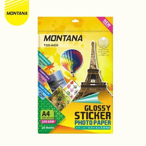 Foto Produk Glossy Sticker Paper / Kertas Photo Glossy Sticker Montana TGS-A435 dari MONTANA ID