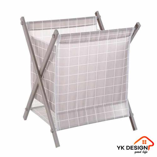 Foto Produk YK DESIGN YK-206 Keranjang Baju Laundry Bag Keranjang Pakaian Kotor - Cokelat dari YK DESIGN OFFICIAL SHOP