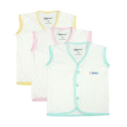 Foto Produk Nbaby Baju Atasan Anak Bayi Vest Dot Print 1Pck isi 3Pcs NBA 3230 - XS dari Nathalie Kids
