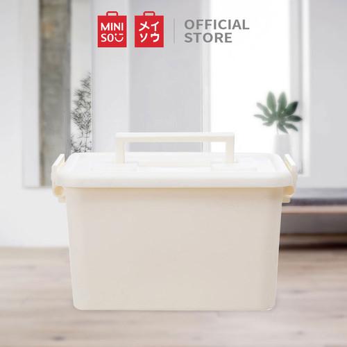 Foto Produk MINISO Storage Box Organizer Multifungsi, Putih / Merah Muda / Biru - Putih dari Miniso Indonesia
