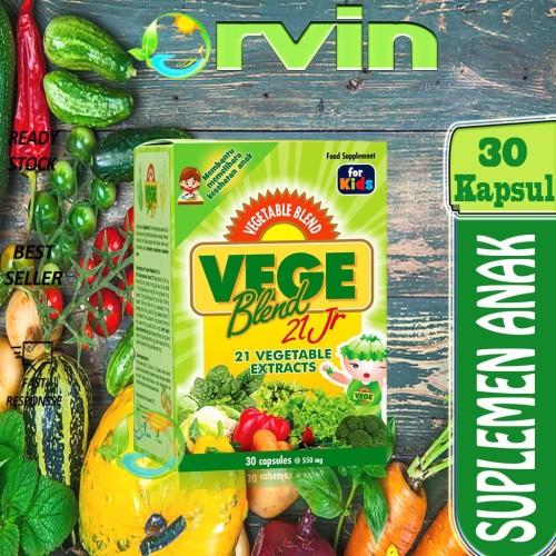 Foto Produk VEGEBLEND 21 JR, 21 SARI SAYURAN, 21, ekstrak sayur,.30 KAPSUL,SUPLEME dari Orvin Health & Beauty