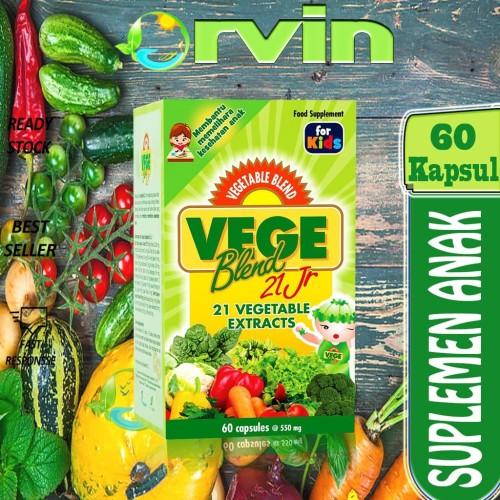 Foto Produk VEGEBLEND 21JR, 21 ekstrak sayuran, Sari dari 21 Sayuran, 60 KAPSUL dari Orvin Health & Beauty