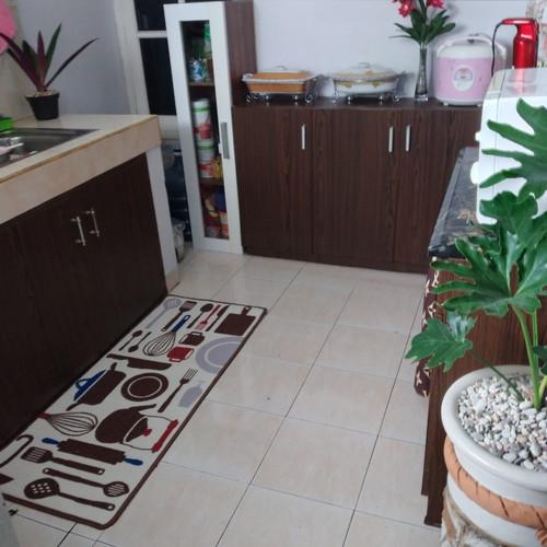 Foto Produk KESET DAPUR PANJANG Kitchen Karpet Alat Dapur Anti Slip 50x120 - CoklatDapur-D15 dari wey collections