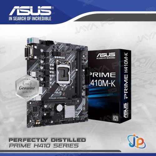 Foto Produk Motherboard ASUS PRIME H410M-K (LGA1200, H410, DDR4, USB3.2, SATA3) dari Jaya PC