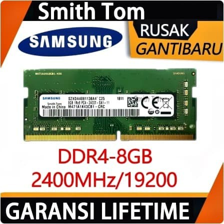 Foto Produk RAM SAMSUNG LAPTOP SODIMM DDR4 8GB BARU MEMORY 2400Mhz 19200 dari Smith Tom