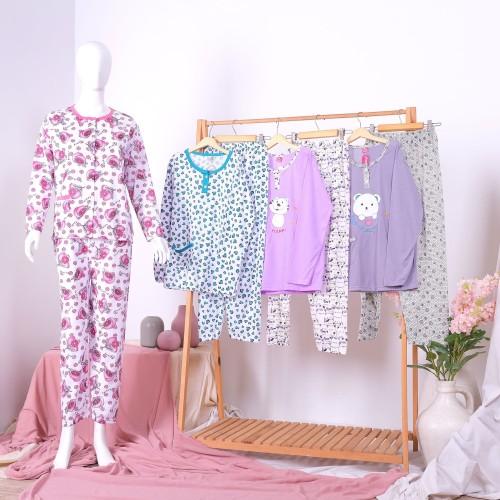Foto Produk Piyama Baju Tidur PP Bahan Kaos Baju Panjang Celana Panjang dari StarSungallery