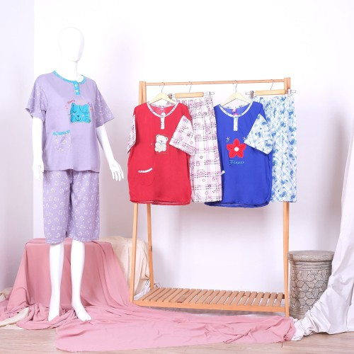 Foto Produk Piyama / Baju Tidur 3/4 XXL Bahan Kaos dari StarSungallery