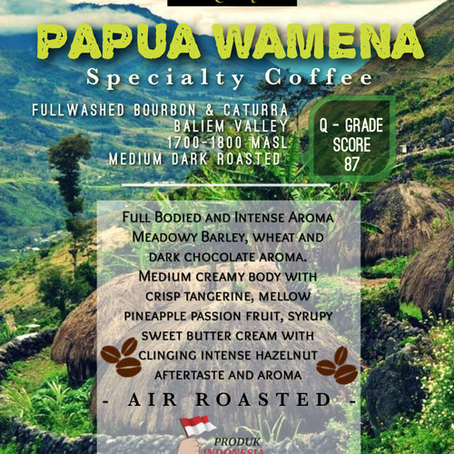 Foto Produk Papua Wamena Specialty Coffee 250gr. dari Toko Rok Presso