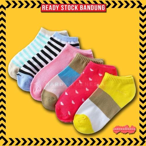 Foto Produk Kaos Kaki Pendek Ankle Socks 21 Warna Pilihan Unisex dari Hardwarenesia