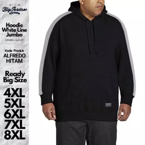 Foto Produk jaket pria big size xxxxxl xxxxl xxxl xxl jaket wanita jumbo hitam xxl - Hitam, 8XL dari RAZENA STORE