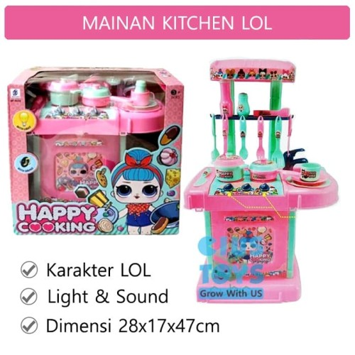 Foto Produk Happy Cooking LOL No.9632 | Mainan Alat Masak Masakan dari ciustoys