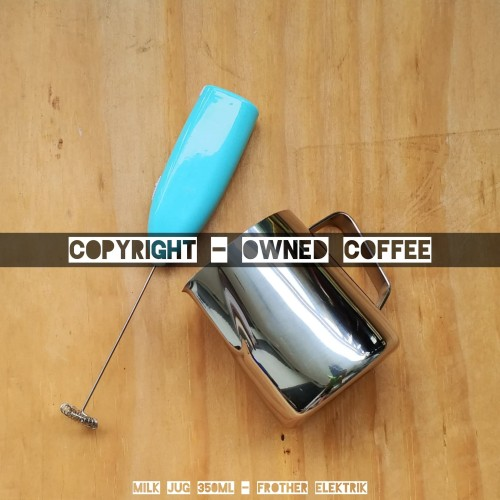 Foto Produk Paket Alat Kopi - Latte - Milk Jug 350mL - Elektrik Frother dari Owned Coffee