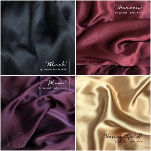 Foto Produk Kain SATIN SILK/ SATEEN SUTRA MAXMARA premium 0.5 meter edisi VIBRANT dari Savanah Textile