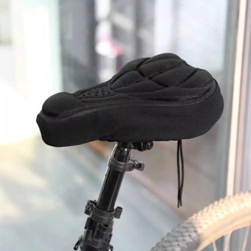 Foto Produk Cover Sarung Bantalan Jok Sadel Sepeda Padding Busa 3D Empuk - Biru dari MAL_store