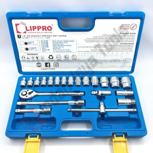 """Foto Produk LIPPRO Kunci Sok Set 22 Pcs 1/2"""" - Socket Set Shock Soket Set - 3322MB - 12 PT dari Indah Jaya Tools"""