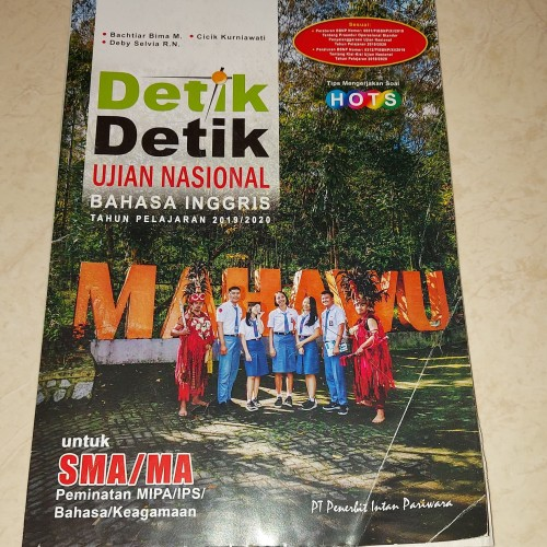 Jual Detik Detik Un Bahasa Inggris 2019 2020 Untuk Sma Ma Jakarta Utara Clarisshop1904 Tokopedia