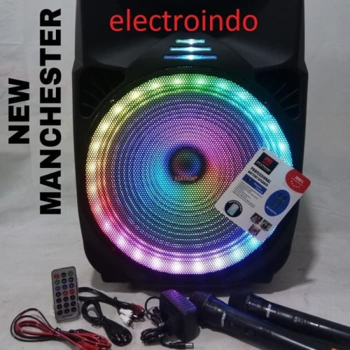 Foto Produk Speaker Bluetooth Portable Asatron Manchester 15inch/Speaker Mancester dari electroindo