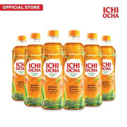 Foto Produk ICHI OCHA Green Tea Honey 450ml x 6 Pcs dari Indofood Beverages