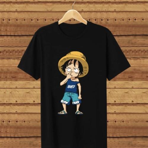 Foto Produk T-shirt Kid Luffy / Baju Kaos Distro Pria Wanita Cotton 30s dari revenge eleven