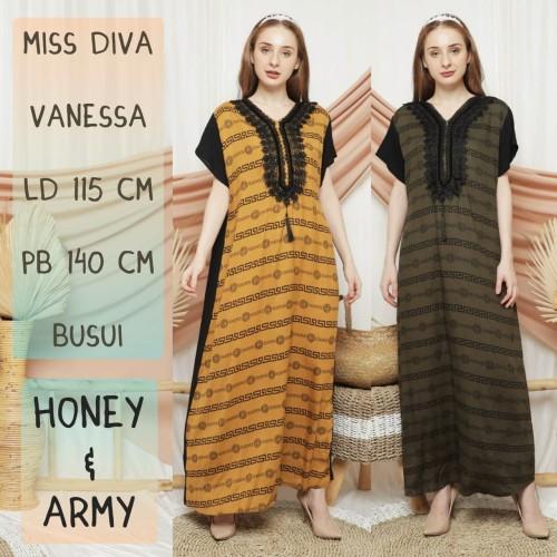 Foto Produk daster arab/india/dubai/turki MISS DIVA VANESSA dress busui adem - dusty pink dari murmershops & fashion