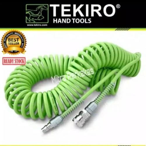 Foto Produk TEKIRO Recoil Hose 6 Meter - Selang Angin Kompresor Spiral - Hijau dari mitra perkakas
