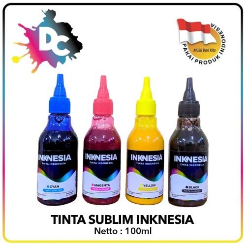 Foto Produk Tinta Sublim Inknesia Epson L Series & T Series 100ml Ekonomis - Hitam dari Dunia Cetak