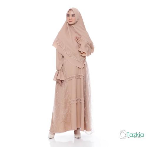 Foto Produk Setelan Muslim | Ghania Syari Coksu | Gamis Khimar Pesta Brukat - Coksu dari Tazkia Hijab Store