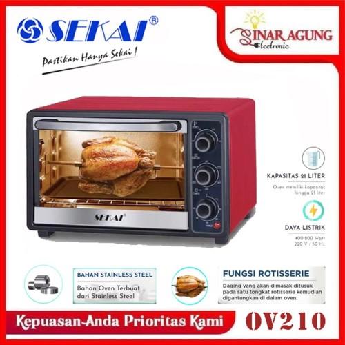 Foto Produk SEKAI Oven Listrik [21L] OV210 OV 210 400W [GARANSI RESMI] RED dari sinar agung electronic