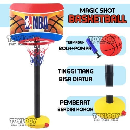 Foto Produk Mainan Olahraga Anak Basketball Tiang Bola Ring Basket Justice League dari Toylogy