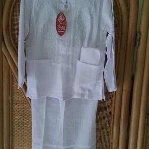 Foto Produk Baju koko anak lengan panjang/Putih uk 5-7 tahun dari al-awwalu shop