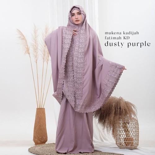 Foto Produk Mukenah Dewasa Siti Khadijah Fatimah Dusty Purple dari Pusat Mukena Indonesia
