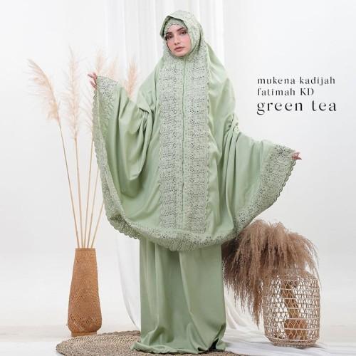 Foto Produk Mukenah Dewasa Siti Khadijah Fatimah Green Tea dari Pusat Mukena Indonesia