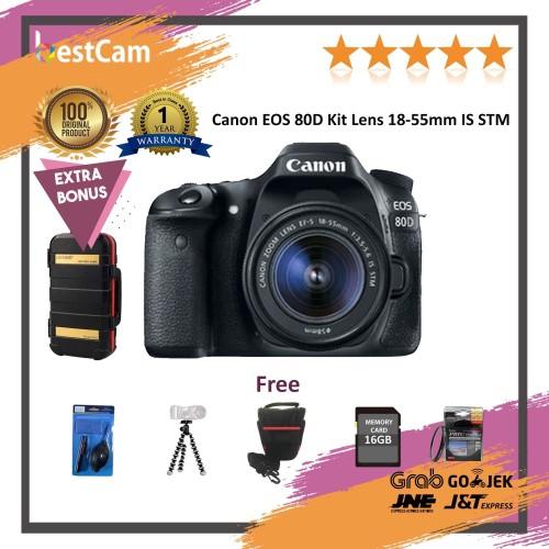 Foto Produk Canon EOS 80D Kit Lens 18-55mm IS STM - FREE Accessories dari BestCam
