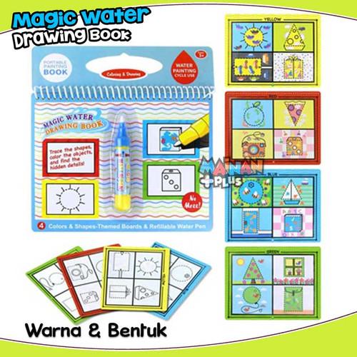 Foto Produk MAINAN EDUKASI BUKU GAMBAR MEWARNAI MAGIC WATER DRAWING COLORING BOOK - WARNA BENTUK dari MainanPlus
