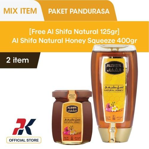 Foto Produk [Free Al Shifa 125Gr] Al Shifa Natural Honey Squeeze 400Gr dari Pandurasa Official Store