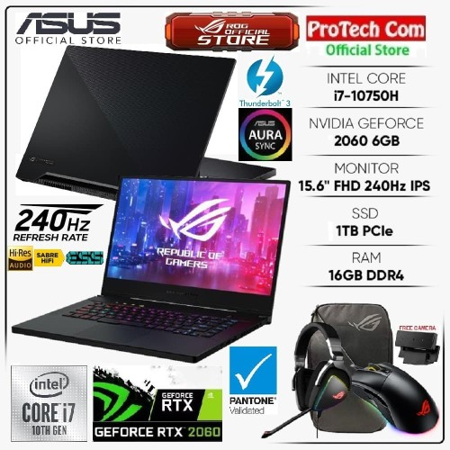Foto Produk ASUS ROG ZEPHYRUS M15 GU502LV-I7R6C8T i7-10750H 16GB 1TB RTX2060 6GB dari Protech Computer