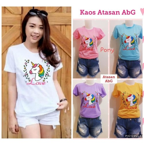 Foto Produk Kaos ABG Cewek - kaos anak remaja perempuan - kaos mickey - helokitty dari Grosir Baju Anak Winstar